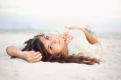 Laying down senior portrait poses, beach portraits, senior girl poses, senior girls, Senior Portrait Poses, Senior Girl Poses, Beach Portraits, Girl Senior Pictures, Senior Pics, Senior Session, Portrait Ideas, Senior Year, Photography Beach