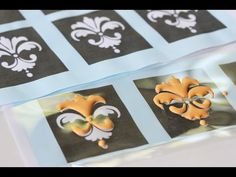 How to pipe complex royal icing transfers (Julia M Usher).