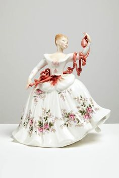 Gore-Embellished Porcelain Figurines by Jessica Harrison