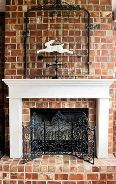 a mantel for the back porch fireplace, fireplaces mantels, porches, woodworking projects, After We made the screen several years ago using three decorative iron panels zip tied together Outside Fireplace, Porch Fireplace, Fake Fireplace, Fireplace Screens, Fireplace Ideas, Old Garden Gates, Old Gates, Diy Porch, Porch Ideas