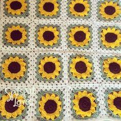 Crochet Sassy Sunflower Afghan Pinterest Afghans