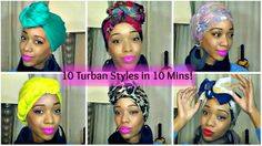 10 Cute and Easy Turban Styles in 10 mins