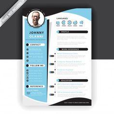 Creative Cv Template, Letterhead Template, Resume Design Template, Resume Template Free, Design Templates, Free Resume, Graphic Design Cv, Brochure Design, Curriculum Template