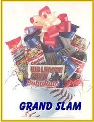 Grand Slam Baseball Gift Baskets for men by PPC Atlanta Georgia Baseball Gift Basket, Baseball Gifts, Softball Gifts, Coach Gifts, Team Gifts, Homemade Gifts, Diy Gifts, Gift Baskets For Men, Auction Baskets