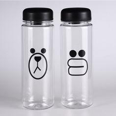 500ml Fruit Juice Detox My Water Bottle Infuser Cubs Piggy Gym Sport BPA Free Health Lemon Juice Cup Bicycle Bottle Transparent