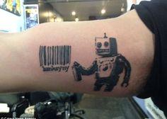 #banksy #robottattoo #blacktattoo