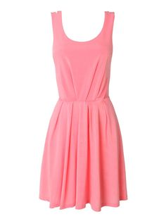 Solid Color Back Hollow Out Black Pink White Dress | GonChas