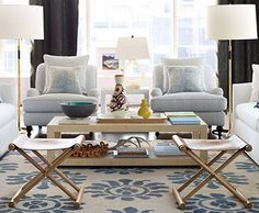 Serena & Lily Living Room - love coffee table and chairs, love all of it