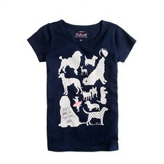 Girls' loudest bark tee- crew cuts
