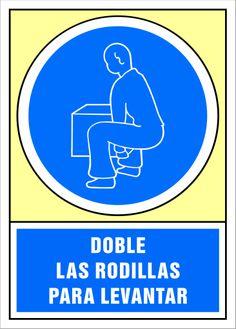 Señal doble las rodillas para levantar