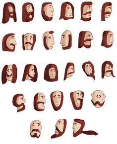 Beard alphabet