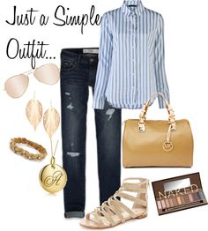 School Outfit, created by klallebach on Polyvore