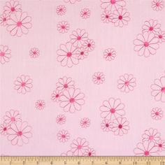 Embroidered Eyelet Flowers Pink/Hot Pink