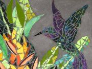 hummingbird and heliconias