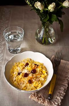 Iranian jewelled rice after Claudia Roden