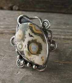Ocean Jasper and Sterling Silver Statement by KellyCoCreativeArts, $95.00