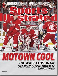 Sports Illustrated cover June The Red Wings should have won the Stanley Cup that year too. Detroit Sports, Detroit Tigers, Detroit Michigan, Sports Teams, Si Cover, Sports Illustrated Covers, Red Wings Hockey, Go Red, Sidney Crosby
