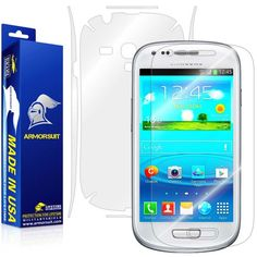ArmorSuit MilitaryShield  Samsung Galaxy S3 Mini Screen Protector  Full Body Skin Protector  Front  Back AntiBubble Ultra HD  Extreme Clarity  Touch Responsive Shield with Lifetime Free Replacements  Retail Packaging ** You can get more details by clicking on the image.