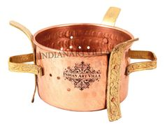 Copper Brass Food Warmer Sigdi Angeethi Hotel Home Decorative