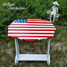 New Paint Saves An Old Porch Table | Intelligent Domestications -  Featured on #HomeMattersParty 101