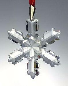 Swarovski Crystal Glass 1992 Annual Snowflake Holiday Ornament Retired in Box Swarovski Christmas Ornaments, Swarovski Snowflake, Holiday Ornaments, Swarovski Crystals, Forgotten Treasures, Blown Glass, White Christmas, Pottery Art, Vintage Toys