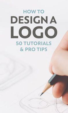 How to Design a Logo: 50 Tutorials and Pro Tips Logo design tutorials. How to Design a Logo: 50 Tutorials and Pro Tips Graphisches Design, Graphic Design Tutorials, Tool Design, Creative Design, Design Ideas, How To Design Logo, Creative Logo, Graphic Design Logos, Brand Logo Design