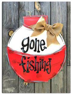 Fishing Cork Door Hanger Fishing Bobber Decor Sign for Door Fishing Sign Name Sign for A Fisherman Family Fishing Sign Gone Fishing Fishing Signs, Fishing Quotes, Bass Fishing, Fishing Boats, Fishing Reels, Fishing Pliers, Crappie Fishing, Fishing Tackle, Gone Fishing Sign