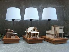 Miniature Homes Creatively Attatched to Lighting Designs: House-Lamp [Video]