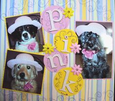 Puppies in Pink-12X12 LO made by N. Hornberger