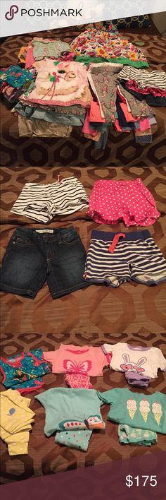 Lot of 84 pieces Toddler Girl Clothing Size 4T 84 pieces of ** 4T ** girl clothing!!!! ** Pajamas are 5T. Enough for an entire wardrobe or an expert Posher could make a lot of money!! Other