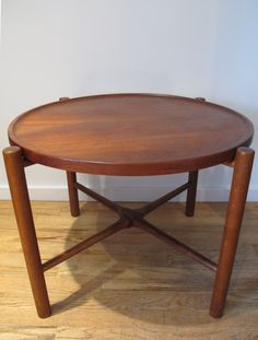 DANISH HANS WEGNER FOR ANDREAS TUCK FOLDING TEAK TRAY TABLE MODEL AT35
