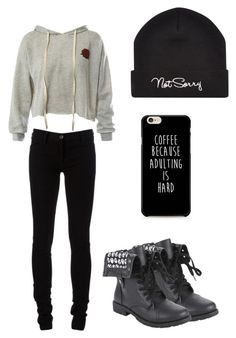 """""""#25"""" by hokuto-aya ❤ liked on Polyvore featuring Sans Souci, Ann Demeulemeester and Hot Topic"""