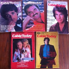5 Issues of Cable Today Magazine TV Guide 1983 Cablesystems Pacific HBO Robin Williams Sylvester Stallone by vintagebaron on Etsy