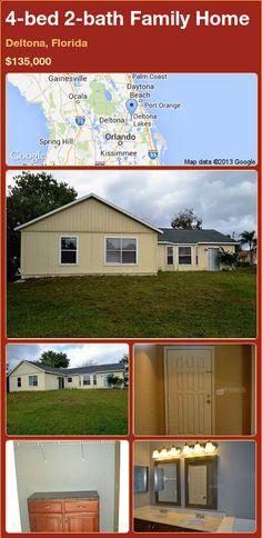 4-bed 2-bath Family Home in Deltona, Florida ►$135,000 #PropertyForSale #RealEstate #Florida http://florida-magic.com/properties/80786-family-home-for-sale-in-deltona-florida-with-4-bedroom-2-bathroom