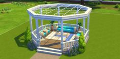 Learn how to build a Gazebo in The Sims 4 in 7 steps with this tutorial. - Learn how to build a Gazebo in The Sims 4 in 7 steps with this tutorial. Decorate the Gazebo to a lo - Minecraft Mods, Modern Minecraft Houses, Minecraft Mansion, Minecraft House Tutorials, Minecraft House Designs, Minecraft Architecture, Minecraft House Guide, Sims 4 House Plans, Sims 4 House Building