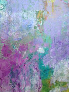 Tyne Kutcher. Abstract art purple lavender aqua teal turquoise