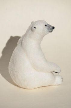 Wool felt Polar Bear Polar Bear