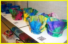 "Chihuly's ""Macchia"" using coffee filters, markers, and starch!"