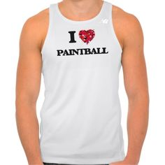 I Love Paintball Tshirt Tank Tops