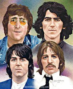 The Beatles #Beatles #pointillism #art