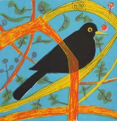 Blackbird Screenprint