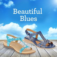 Blue is the new black. FootSmart has 100s of styles in hard-to-find sizes and widths, from navy Mary Janes to bright blue sandals, to go with every Spring and Summer outfit.
