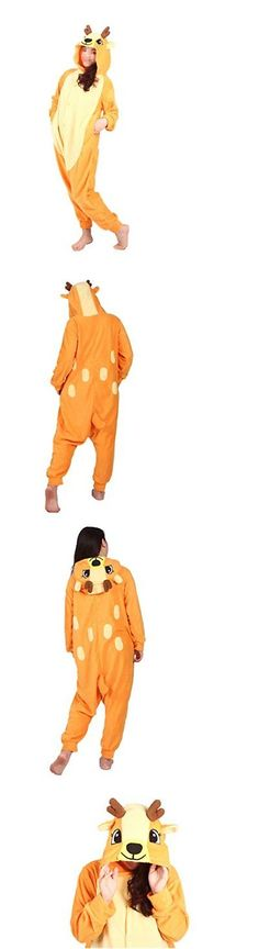 Unisex 86207: Wotogold Animal Cosplay Costume Sika Deer Unisex Adult Pajamas Orange -> BUY IT NOW ONLY: $33.32 on eBay!