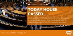 House passed most co-sponsored bill this Congress -- email privacy protections bill