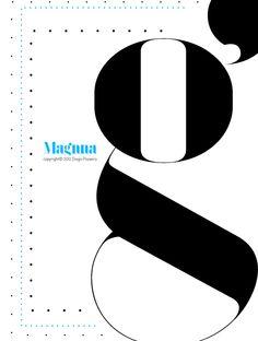 Magnna typeface by Diogo Pisoeiro, via Behance