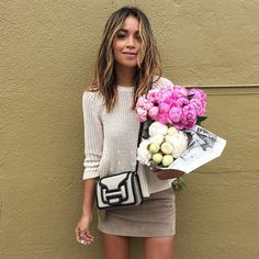 """The happiest with flowers and new bag! @ModaOperandi #momustown @liketoknow.it www.liketk.it/1qnru #liketkit"" Photo taken by @sincerelyjules on Instagram, pinned via the InstaPin iOS App! http://www.instapinapp.com (05/28/2015)"