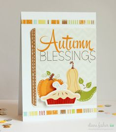 This autumn card by Diana Fisher used the Bushel O' Fall collection by Imaginisce!