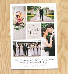 Simple & Unique wedding thank you card .