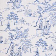 Stroheim 75018W TEA GARDEN BLUE-02 Wallpaper