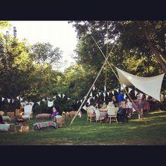 Hobbit themed backyard party